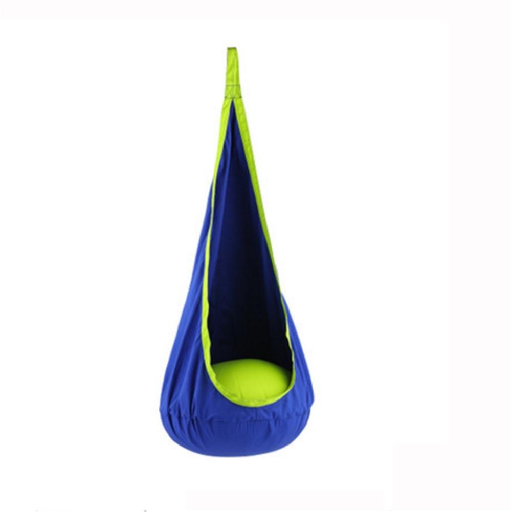 Wly&home Hängeschaukel Schaukelstuhl Für Kinder Hängender Stuhl mit aufblasbarem Kissen, 150x70 cm und EIN maximales Gewicht von 80 kg tragen