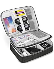 Torba elektroniczna – podwójna warstwa, organizer na akcesoria elektroniczne – uniwersalna torba na kable (czarna