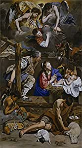 The high quality polyster Canvas of oil painting 'Maino Friar Juan Bautista Adoration of the Shepherds 1611 13 ' ,size: 20 x 36 inch / 51 x 92 cm ,this High quality Art Decorative Canvas Prints is fit for Game Room decoration and Home artwork and Gifts