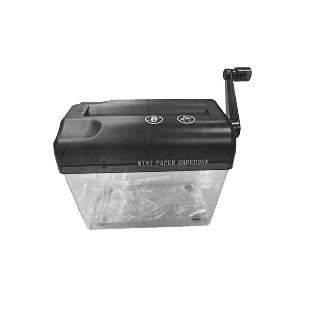 Mini Destructoras de Papel Y Documentos Manual Trituradora de A6 Portátil Cortador de Papel Electrónica Herramientas - Negro: Amazon.es: Hogar