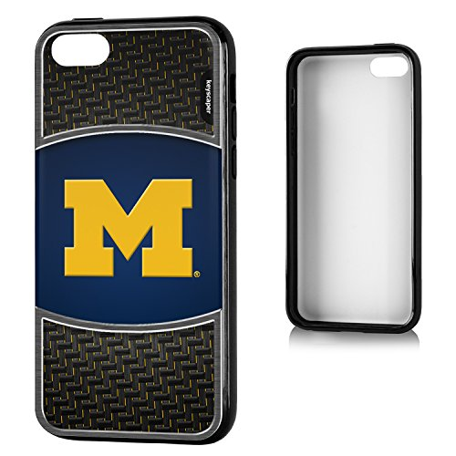 Michigan Wolverines iPhone 5C Bumper Case officially licensed by the University of Michigan for the Apple iPhone 5C by keyscaper® Flexible Full Coverage Low Profile (Low Profile Iphone 5c Case compare prices)