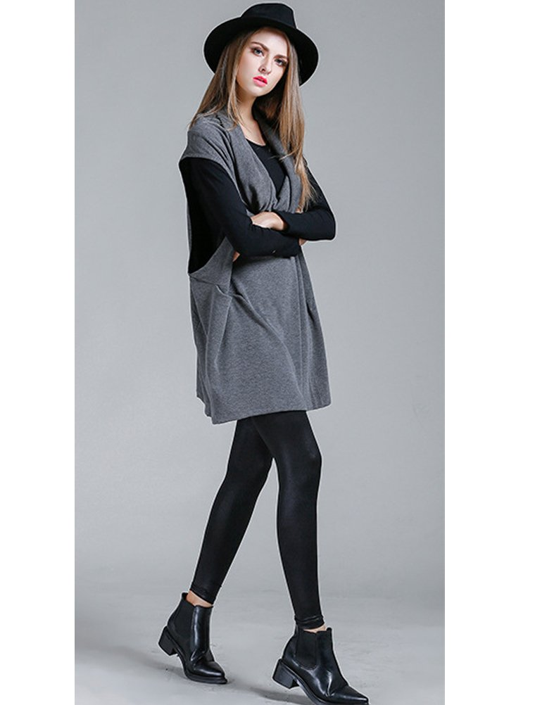 Mordenmiss Women's Oversized Sweater Spring Day Bat Shirt (Style 4 Gray) by Mordenmiss (Image #6)
