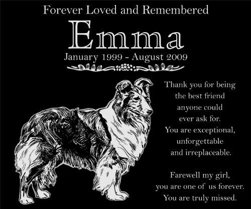 Personalized Shetland Sheepdog Pet Dog Memorial 12