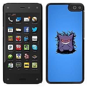 LECELL--Funda protectora / Cubierta / Piel For Amazon Fire Phone -- Monstruo lindo dientes blancos Sonrisa Arte de la historieta --