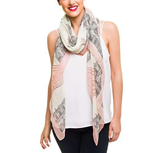 Scarf for Women Lightweight Geometric Fashion Spring Winter Scarves Shawl Wraps -