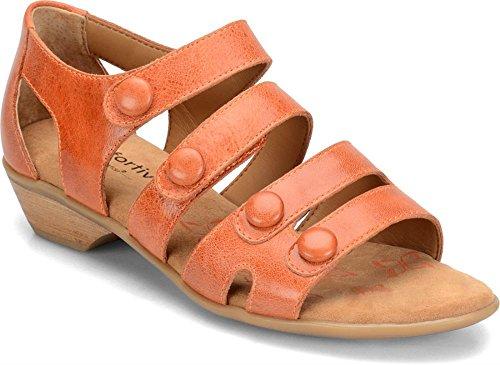 Comfortiva Donna Leggendo Sandalo Con Cinturino Arancione Papavero