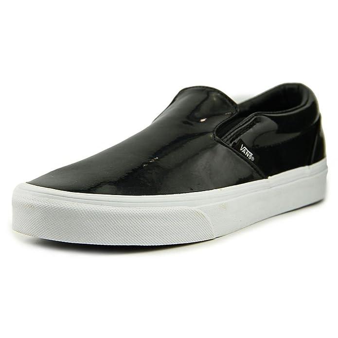 Vans Classic Slip-On Sneakers Damen Schwarz Hochglanz