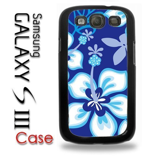 Samsung Galaxy S3 Plastic Case - Hibiscus Flowers Blue Pattern Hawaii Tropical Flowers
