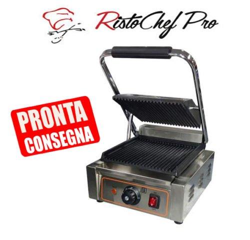 Piastra panini Rigata/Rigata 305x365x210h mm per Bar Pub Ristorante RISTOCHEFPRO RI4740