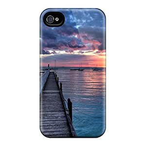 AhLyZiK5447rNdpc Wonderful Sunset At Sea Fashion Tpu 4/4s Case Cover For Iphone