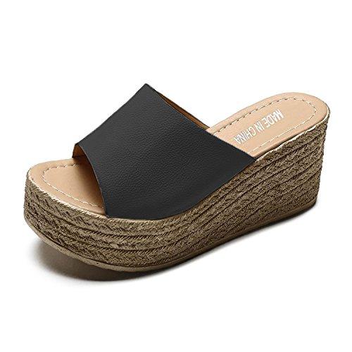 サンダル レディース ウェッジソール 厚底 歩きやすい 8cm 軽量 スエード アンクルストラップ オープントゥ クロスベルト 美脚 脚長効果