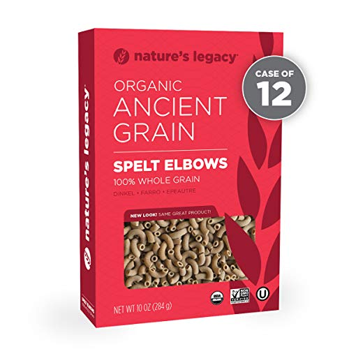 - Nature's Legacy Organic Whole Spelt Elbow (Case of 12 - 10oz)