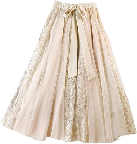 Tallas Grandes Falda De Verano Sólidos Colores De Mujer Festiva ...
