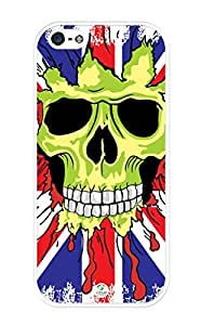 linJUN FENGiZERCASE iPhone 5, iPhone 5S Case Union Jack Skull RUBBER CASE - Fits iPhone 5, iPhone 5S T-Mobile, Verizon, AT&T, Sprint and International