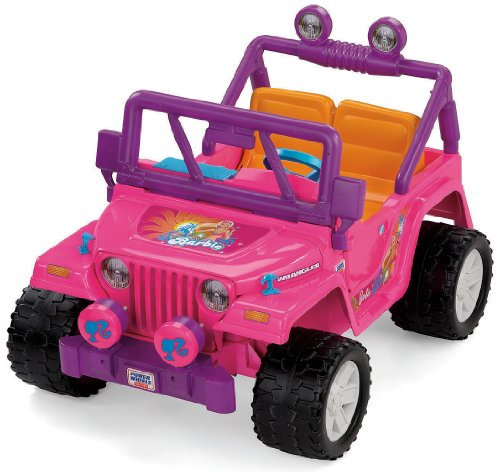 amazoncom power wheels barbie jammin jeep wranglerdiscontinued by manufacturer toys games