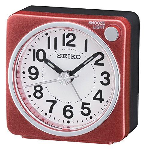 rosso-bianco Orologio analogico da comodino unisex Seiko QHE118R Clocks