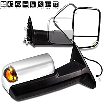 SCITOO Automotive Exterior Mirrors Replace Mirror Parts with Defrosting Electrical Operated Function Compatible for fit 2002-2008 Dodge 1500 2500 3500 Models Comes with Pair Mirrors