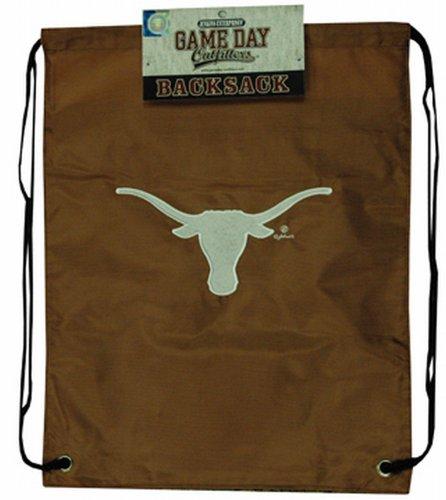 NCAA Texas Longhorns Backsack with Draw Strings and Team Logo, Medium, Team ()