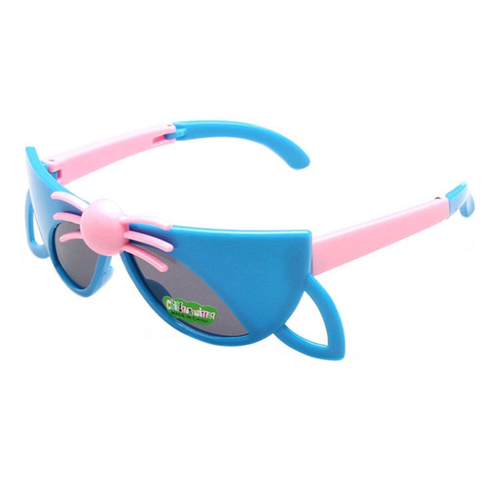 FancyG Cool Kids Spidy Style Folding Fox Sunglasses Frame Toy Glasses Eyewear - Blue