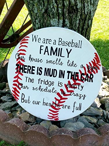 Wooden Sign for Home Decor Baseball Sign Family Baseball Sign Baseball Sign Sport Sign Baseball Plaque Softball Sign Baseball Family Wood Decor Sayings Wall Plaque Sign