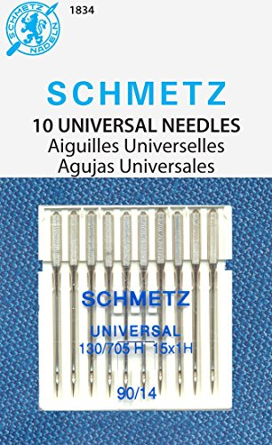 SCHMETZ Universal (130/705 H) Household Sewing Machine Needles - Carded - Size 90/14 - 10 ()
