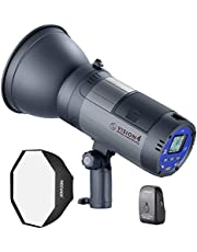 Neewer Vision 4 300W Li-ion Battery Powered Outdoor Studio Flash Strobe (1000 Full Power Flashes with 2.4G System, Trigger Included), Bowens Mount with Softbox Kit for Video Location Photography