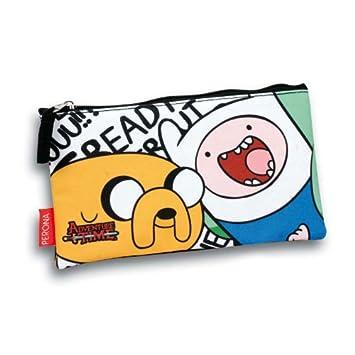 Japan anime Adventure Time Finn and Jake Pencil Case Pocket Make-Up Storage Bag