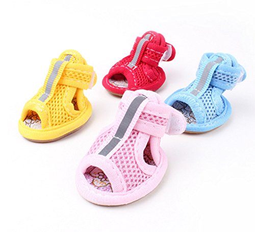 Chaussures Protection Huateng Respirant Sandales Rose slip Anti Bottes De Chien Mesh qwtpA