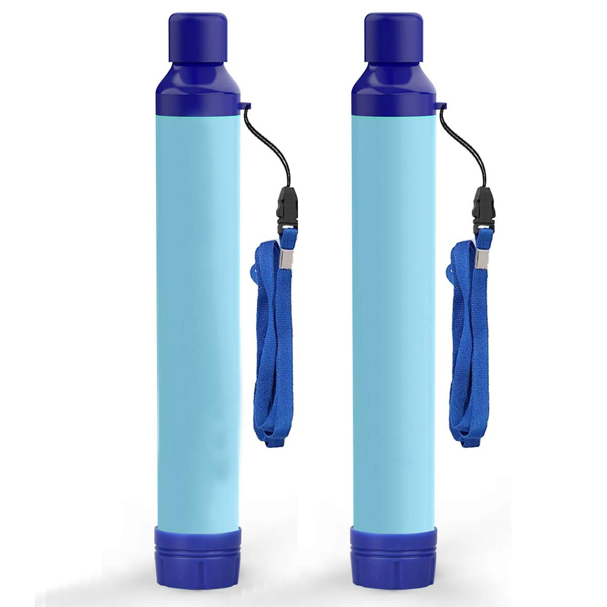Kerrogee Portable Water Filter Straw,396 Gallon Filtration Capacity, 0.01 Micron Filtration Accuracy Survival Water Filter,Easy Carry for Camping,Backpacking, 2 Pack