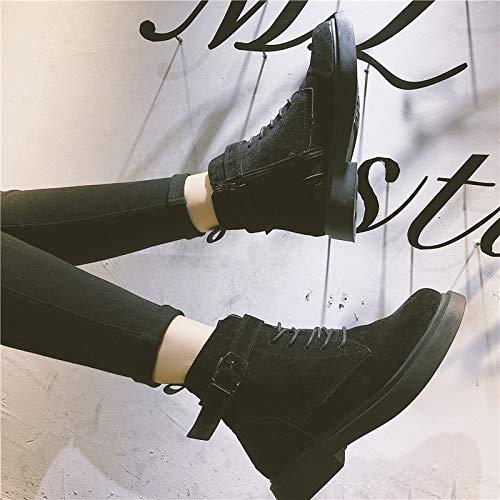 YMFIE Frauen Plus samtige Nubuck-Stiefel im Herbst und Winter mit Seitlichem Reißverschluss und Reißverschluss-Stiefeletten
