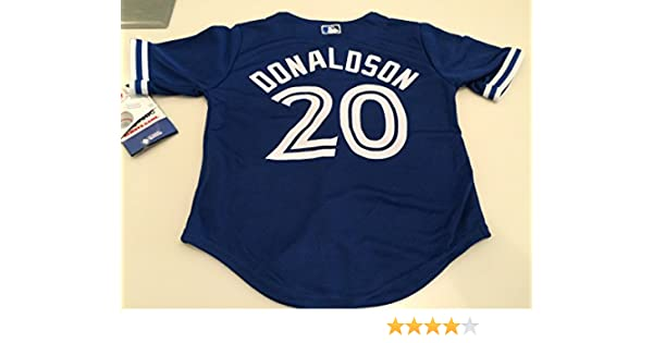c233a5a2e77 Toronto Blue Jays Kids Toddler Child Jersey Cool Base Josh Donaldson Blue  Alternate