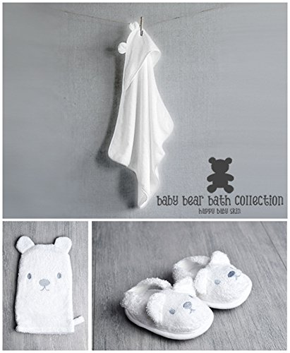 Baby Bear Bath Gift Set with Hooded Towel, Wash Mitt and Sli