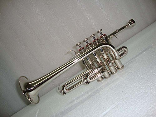 OSWAL Bb/A Silver Nickel Piccolo Trumpet With Free Case+Mouthpiece by OSWAL