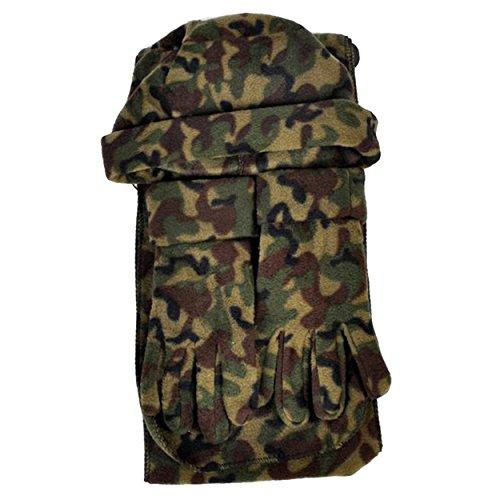 Mixed Style 3 Piece Fleece Hat, Scarf & Glove Women's Winter Set (Camouflage-(WNTSET1000-1))