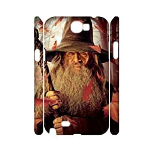 wugdiy Custom Hard Plastic Back 3D Case Cover for Samsung Galaxy Note 2 N7100 with Unique Design The Hobbit