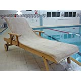 Bana Kuru Chlorine & Sun Resistant Sun Lounger Towel - Full length, 70cm Wide + 30cm Flap 500gsm - Mocha