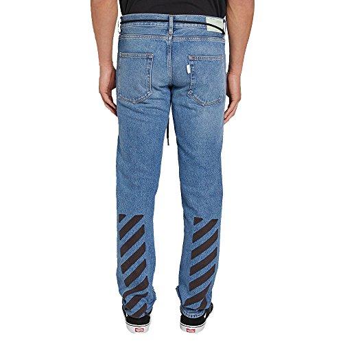 Off-White Homme OMCE012S173860497310 Bleu Coton Jeans