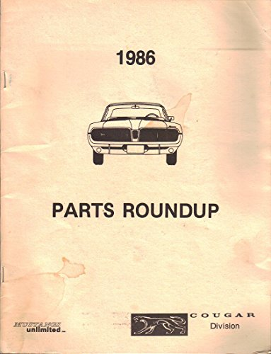 Mustang Unlimited - Parts Roundup Catalog, Parts list for Mercury Cougar (1986)