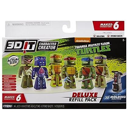 Buy 3 D Character Creator Teenage Mutant Ninja Turtles Deluxe Refill