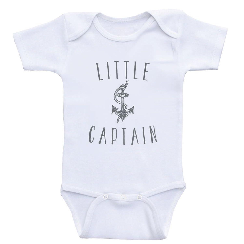 """Amazon Anchor Baby Clothes For Boys """"Little Captain"""" Nautical"""