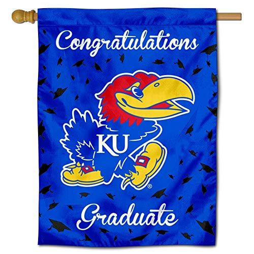 College Flags and Banners Co. Kansas Jayhawks Graduation Gift Banner Flag