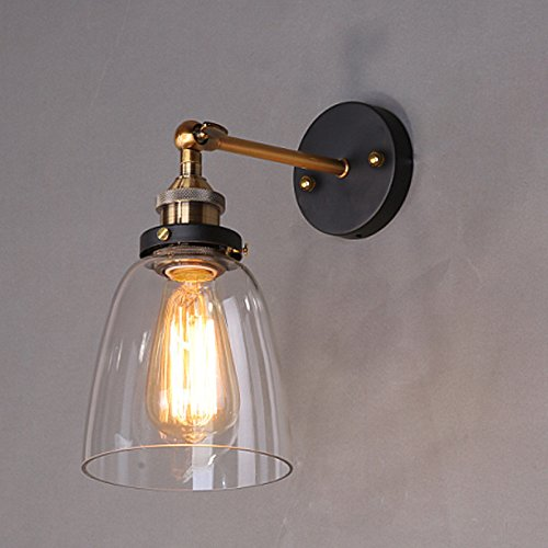 - Wall Lights Personalized Retro Antique lamp Bell-Shaped Glass Wall lamp 1424cm