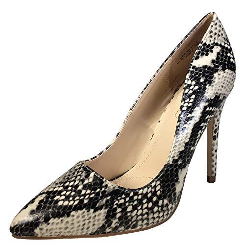 Anne Michelle Women's Plain Pointy-Toe Dress Heel Pump, Snake Print, 8.0 B (M) - Pumps Snake Print