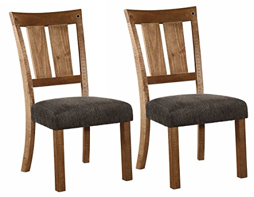 Ashley Furniture Signature Design - Tamilo Dining Chair - Set of 2 - Dark Brown (Set Pine Dining)