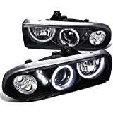 Spec-D Tuning LHP-S1098JM-RS Chevy S10 Blazer Pickup Black Halo SMD LED DRL Projector Headlights