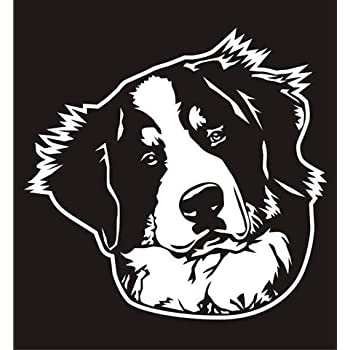Amazoncom Bernese Mountain Dog Head V2 Decal Sticker Peel And