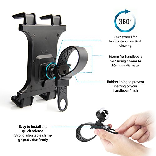 Premium Zip Grip Universal Bicycle Treadmill Exercise Bike Mount