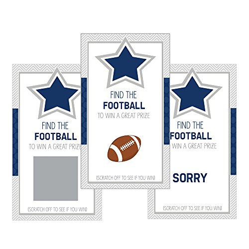 Set of 12 Scratch Off Game Cards for Baby Shower Games with Dallas Texas Cowboys Football SC400 -