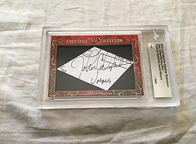 John Calipari Nerlens Noel 2018 Leaf Masterpiece Cut Signature 1/1 JSA Kentucky - College Cut Signatures