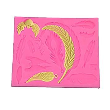 Demarkt Alas de Ángel Molde de Silicona Hornear Molde Para Diy Cualquier Forma de Pastel Para Candy Cake Decoración 12.4 * 10.2 * 0.8CM 1PCS: Amazon.es: ...